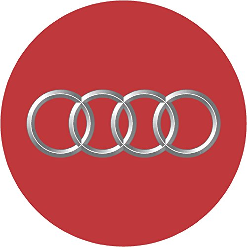 Audi Red Replacement Decal Sticker 6 Piece Set (2.953