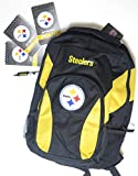 Pittsburgh Steelers back to school school backpack. Set. Includes1 Journal. 2 memo pads and a retractable ballpoint pen.