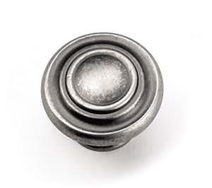 Laurey 51806 Cabinet Hardware 1-3/8-Inch Nantucket Knob, Antique Pewter
