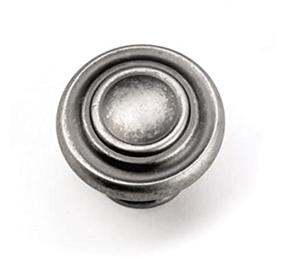 Laurey 51806 Cabinet Hardware 1 3/8 Inch Nantucket Knob, Antique Pewter