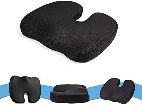 Cuscino Sedile Traspirante da Viaggio Coccyx Ortopedico Memory Foam Cuscino per Sedia da Massaggio Cuscino per Sedia Cuscino per Sedile a Forma di U Nero