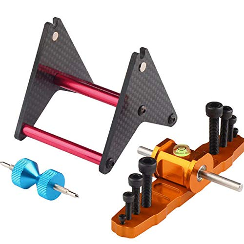 Almighty Propeller Balancer For Airplane 250-800 Helicopter - RC Toys & Hobbies Tools & Bags & Storage - 1x Metal connector rotor level, 1x M470MM metal strut - 500 Class Helicopter