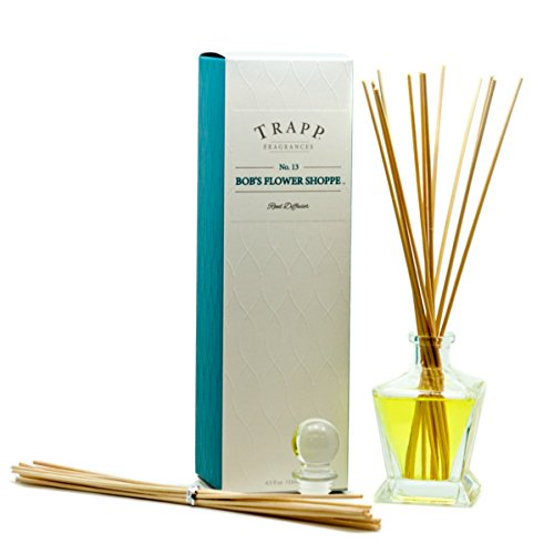Trapp Candles Reed Diffuser Kit, No. 13 Bob's Flower Shoppe, 4.5-Ounce
