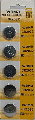 2032 Battery (CR2032/ DL2032/ E-CR2032/ SB-T51/ LF1/ 2V) Lithium 3v (1 Pack of 5)