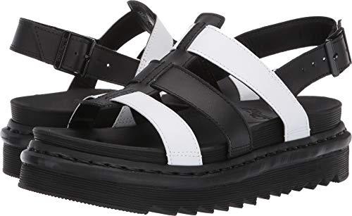 Womens Martens Leather - Dr. Martens Women's Yelena Sandal, White/Black, 6 Regular UK (8 US)