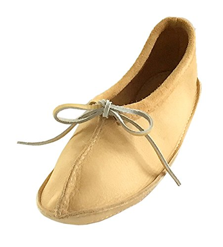 Womens Genuine Moose (Bastien Industries Women's Maple Tan Moose Hide Leather Ballet Earthing Moccasins (7, Natural Tan))