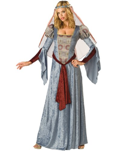 InCharacter Costumes Women's Maid Marian Costume, Blue/Burgundy/Grey, X-Large (Princess Renaissance Costume)