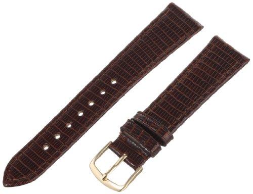 Hadley-Roma Men's MSM701RB-190 19-mm Brown Genuine Lizard Leather Watch Strap Brown Genuine Lizard Strap