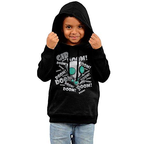 [FGFD Kid's Invader Zim Doom Unisex Sweatshirt Black Size 2 Toddler] (The Sims 3 Costume Chest)