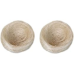 Natural Coconut Fiber for Bird Nest spring summer autumn winter Comfort Bird Nest Pad Bird Cage Accessories 100% Safe Material Great for All Cage Sizes Suitable for for Parrot Cockatiels (Pack of 2)