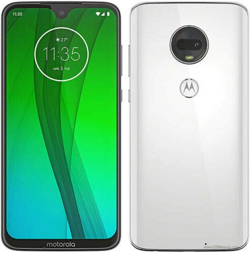 "Motorola Moto G7 (64GB, 4GB RAM) Dual SIM 6.2"" 4G LTE (GSM Only) Factory Unlocked Smartphone International Model XT1962-4 (Clear White) from Motorola"