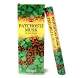 Patchouli Musk - 20 Stick Hex Tube - HEM Incense Hand Rolled In India