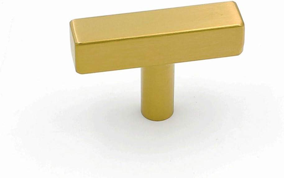 25 Pack goldenwarm Modern Cabinet Hardware Square Bar Knob - LS1212GD Square Shape Knobs Gold Handles for Drawer Kitchen Cabinets Dresser Cupboard Wardrobe