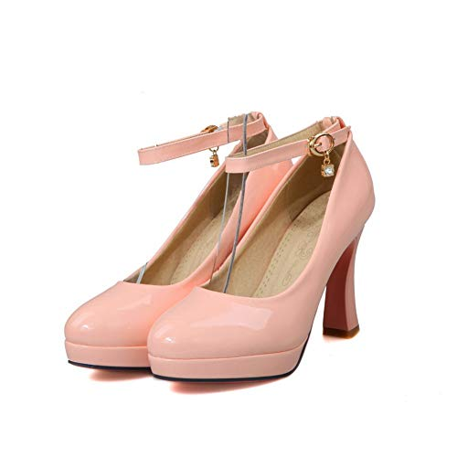 Solid Shoes Travel Leather Womens APL10450 BalaMasa Platform Pink Pumps tWOfBxqa