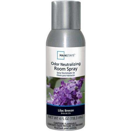 Mainstays Odor Neutralizing Room Spray Lilac Breeze 4 Oz