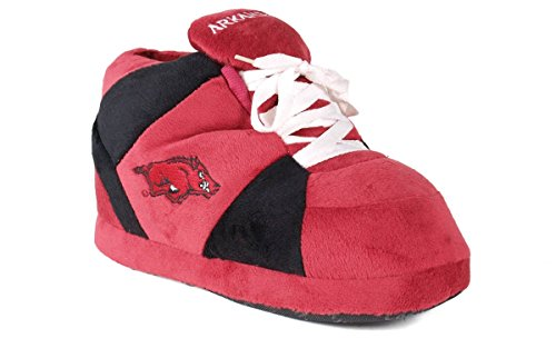 Happy Feet Men's and Womens NCAA College Sneaker Slippers Arkansas Razorbacks ZbQWU