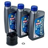Tusk 4-Stroke Oil Change Kit Suzuki ECSTAR R5000 10W-40 - Fits: Suzuki King Quad 450 4x4 2007-2010