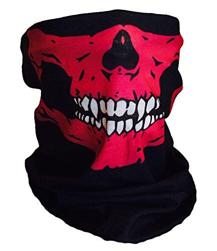 Mayhem Masks Pink Skull White Fangs Face Mask Tube Bandana Balaclava Snowboard Harley Davidson Snowboard Ski Mask Multi Function Tactical (White Skull Ski Mask)