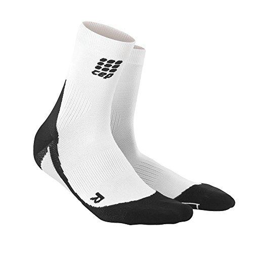 CEP Womens Dynamic+ Cycle Short Socks (White/Black) Size: III