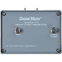 Channel Master CM 7778 TITAN 2 VHF/UHF TV Antenna Preamplifier CM7778 Amplifier