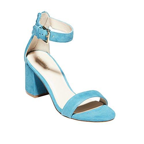 Cole Haan Donna Clarette Ii Sandalo Con Tacco In Camoscio Tahitiano Marea