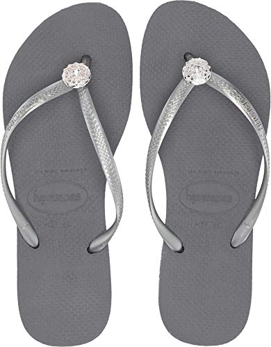 - Havaianas Women's Slim Crystal Poem Flip Flops Steel Grey 1 39-40 M Bra
