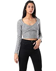 M.Sou Pullover Tops Full Sleeve Round Neck SizeFor Women