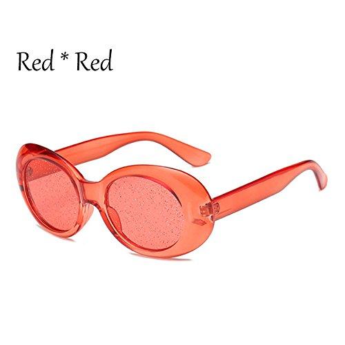 Señoras Oval Sol Red G469 TIANLIANG04 Colors Mujer Candy Tonos De La Gafas Gafas Protección De Brillantes Lentes Solar Claro C3 C7 EEwq6SpnWP