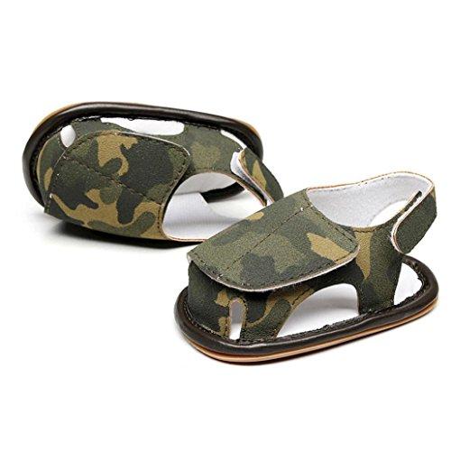 0 für 6 für Baby Sneaker Rutsch Sandalen 18 Sohle Schuhe 3 24 Babys Schuhe für rutschfester Kinder 3 Mädchen Soft 9 Monat 9 für Sommer Camouflage Anti Grün Schuhe Fashion 6 18 RHnwq