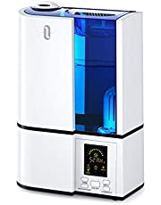 TaoTronics Cool Mist Humidifier, 4L Ultrasonic Humidifiers for Large Bedroom Home Baby, Quiet Operation, LED Display with Humidistat, Waterless Auto Shut-Off (AU Plug, 240V)