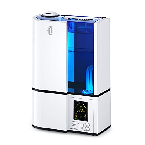 TaoTronics Humidifiers, 4L Cool Mist Ultrasonic Humidifier for Bedroom Home Large Room Baby Room, Quiet Operation, LED…