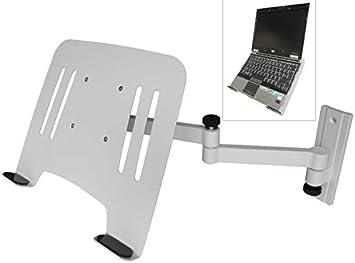 L52W-IP3WA DRALL INSTRUMENTS Staffa per Montaggio a Parete per Laptop Bianco con Vassoio per Adattatore per Notebook Bianco Modello Approvata T/ÜV S/ÜD