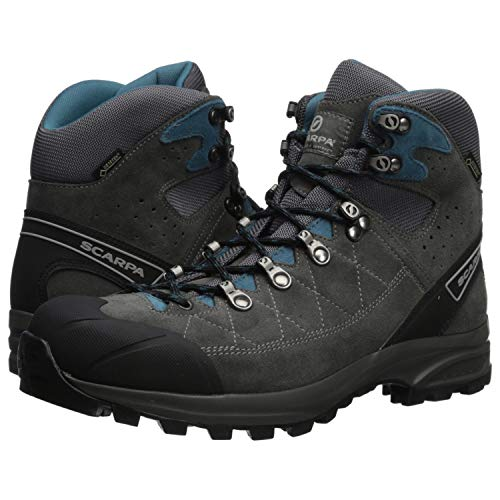 46dbdf8ce46e SCARPA Men s Kailash Trek GTX Hiking Boot Shark Grey Lake Blue 47 Regular EU  (US M 13