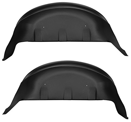 Liner Rear Black - Husky Liners 79131 Black Rear Wheel Well Guards Fits 17-19 F250/350, 2 Pack