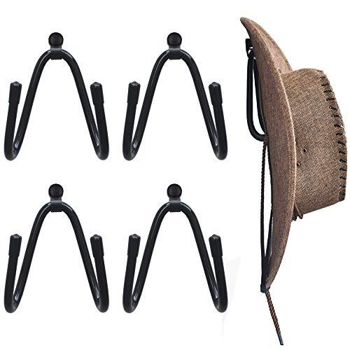 YYST Cowboy Hat Rack Hat Holder Hat Organizer Hat Wall Mount - 4/PK No Hat
