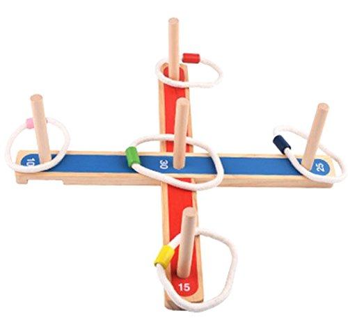 輪投げ 木製 わなげ練習用品 組み立て簡単 持ち運び便利