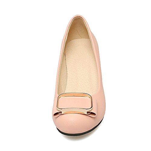 Carolbar Womens Bows Bridal Sweet Wedding Mid Heel Pumps Dress Shoes Pink jS1MNVy02S