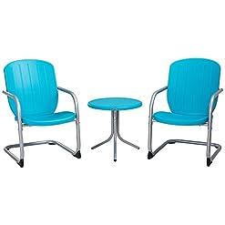 Garden and Outdoor Lifetime Plastic Retro Outdoor Patio Furniture Set, Comfort Contoured Polyethylene outdoor lounge furniture