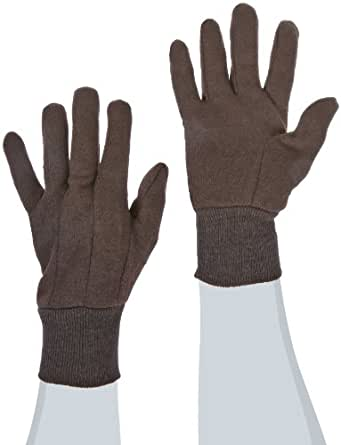 West Chester 65090 Polyester Cotton Medium Weight Jersey Glove, Small, Brown