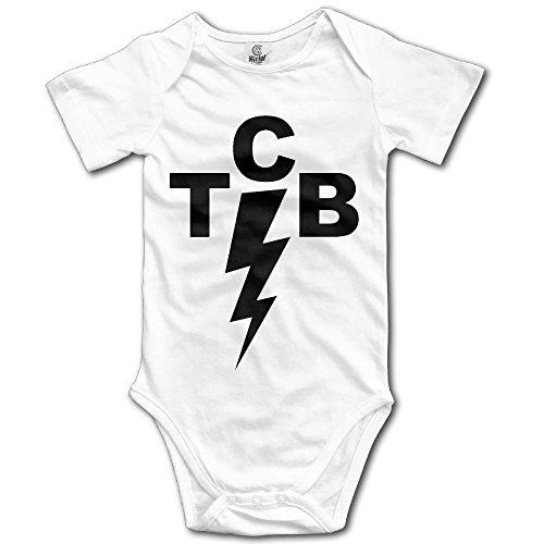 Elvis Presley The King Of Rock 'n' Roll TCB Baby Girls/Boys Short Sleeve Bodysuit (Elvis Onesie)