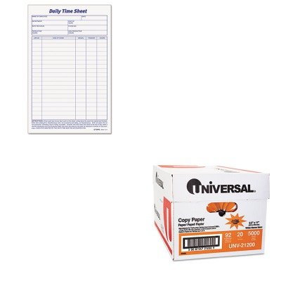 KITTOP30041UNV21200 - Value Kit - Tops Daily Time and Job Sheets (TOP30041) and Universal Copy Paper (UNV21200)