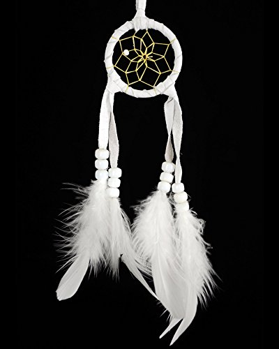All White 2 Inch Navajo Dream Catcher with Certificate of Authenticity