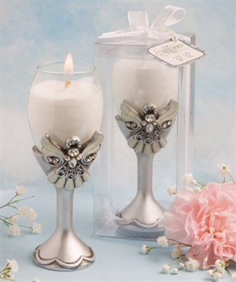 Angel Design Champagne Flute Candle Holders, 14
