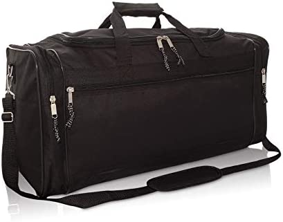 DALIX 25 Extra Large Vacation Travel Duffle Bag in Black