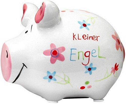 KCG Keramik Sparschwein KLEINER ENGEL ca. 12.5cm x 9cm