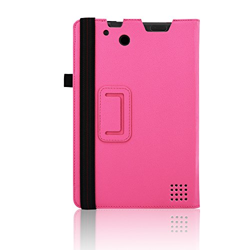 """ACdream RCA Cambio W101 Case, Protective Premium PU Leather Cover Case for RCA 10.1"""" 2in1 Tablet 32GB Quad Core Windows 8.1 / 10.1 Tablet Model W101 (2015 Version), Hot Pink"""