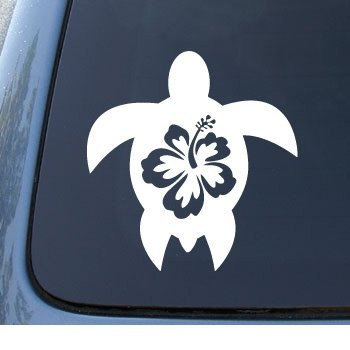 HIBISCUS TURTLE Tropical Notebook Sticker