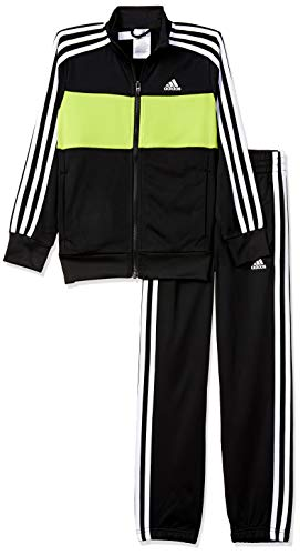 Adidas Kid Boy's YB TS TIBERIO Long Sleeve Regular Fit Tracksuit, Black, XXX-Small