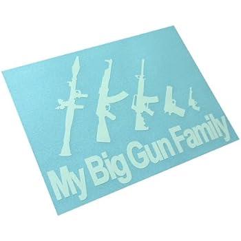 Amazon Com My Big Gun Family Decal Stick Figures Funny