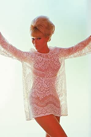 Elke Sommer Busty Color In See Thru Top 11x17 Mini Poster